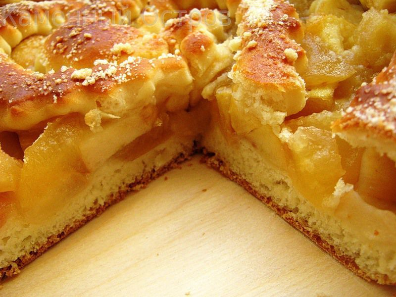Пирог из яблок из дрожжевого теста рецепт